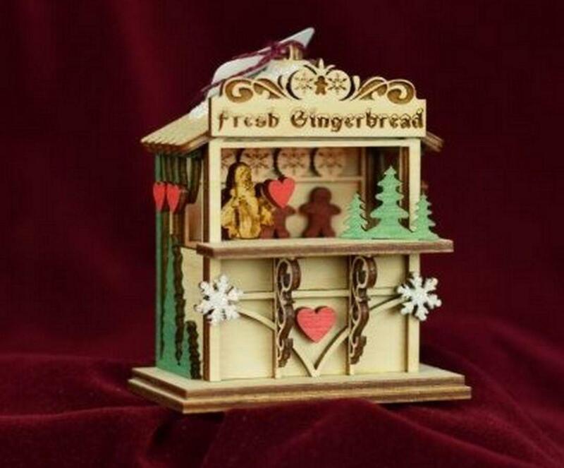 Ginger Cottages Ginger Market Christmas Market Ornament GC129