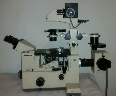 Olympus Imt-2 Inverted Fluorescent Phase Contrast Research Microscope Complete