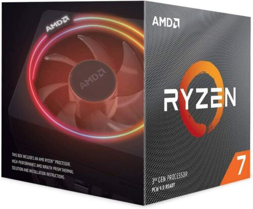 AMD Ryzen 7 3700X 3rd Gen 8-Core 16-Thread Unlocked Desktop Processor LED Cooler