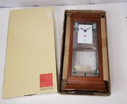 NEW Bulova Frank Lloyd Wright Willits Mantel Clock B1839 New in Box