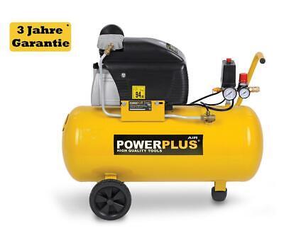 50L Druckluft Kompressor 8 bar 2 PS 50 Liter Tank rollbar Drucksteuerung