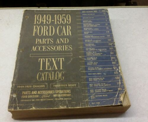 1949-1959 FORD CAR Parts and A...