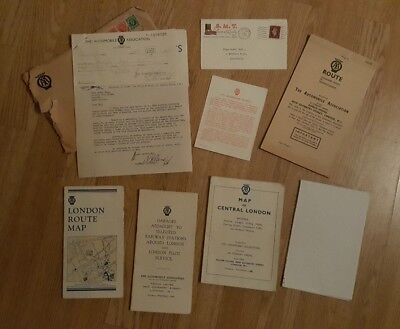1935 AA Automobile Association Correspondence with London maps Etc