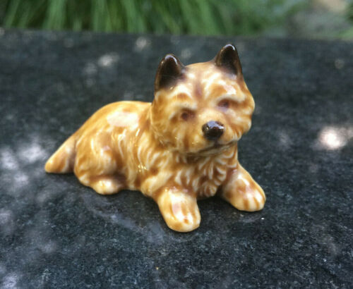 Vintage Ceramic Norwich Terrier Figurine Mini
