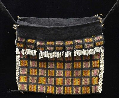 """Old tribal fine """"Aluk"""" Betel nut bag from Atoni people, Timor Indonesia"""