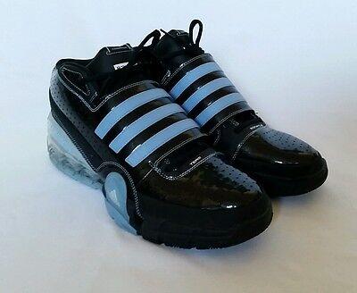 6d8979c1bbab Adidas Bounce Commander Mens Basketball Shoe Sample Sz 18 Black Light Blue