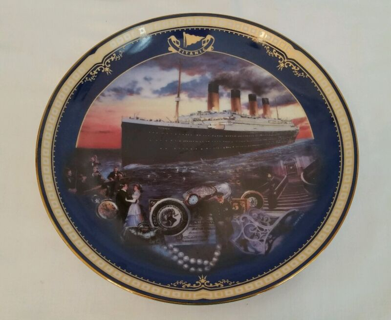 Titanic PLATE Queen of the Ocean Maiden Voyage James Griffin Bradford 11704 A