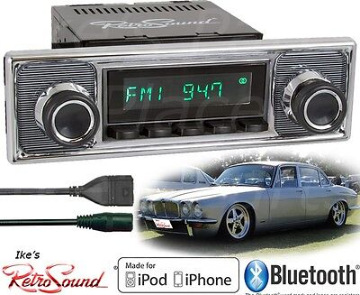 Retro Sound Jaguar Model TWO-B Radio/BlueTooth/iPod/USB/AUX-IN-Becker Pinstripe