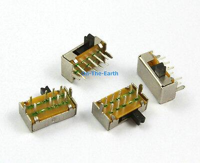 100 Pieces 8 Pin 3 Position 2p3t Dp3t Pcb Mini Slide Switch Sk-23d07-vg3