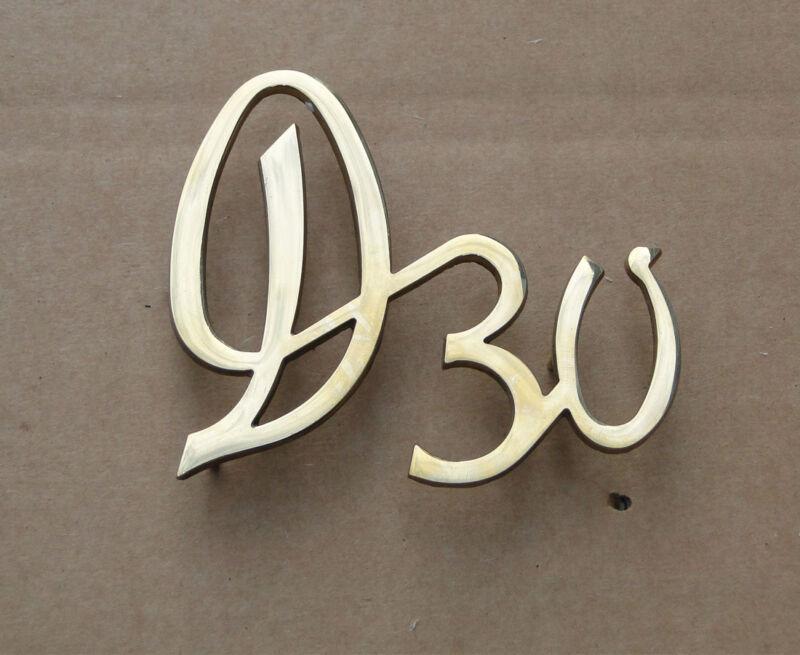 Messing Emblem D30 - Schriftzug für Deutz D30 D30S F2L712 Traktor Schlepper  Foto 1
