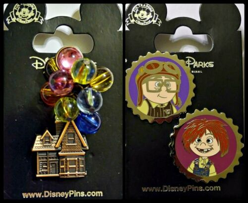 Disney Parks 3 Pin lot UP House with balloons + Carl & Ellie