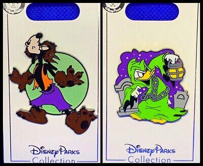 Disney 2 Pin Lot 2019 HALLOWEEN Goofy as Wolfman + Donald