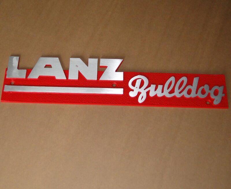 Emblem Schild zur Lanz Bulldog D4016 4016 Volldiesel Haubenemblem Motorhaube Guß Foto 1