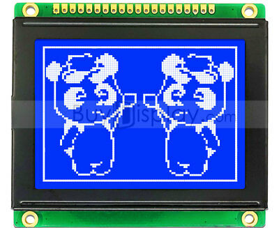 2.6blue 12864 128x64 Spi Graphic Lcd Display Modulebuilt-in Character Rom