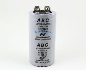 2 pieces electric motor start capacitor ac 125v 300 mfd uf for Motor start capacitor test