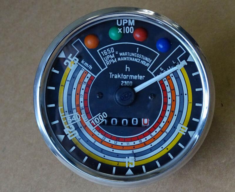 Traktometer ø 115 mm für Deutz 05 - 06 Serie Traktor rechtsdrehend Tacho KD6 Foto 1
