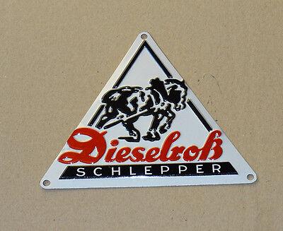 Dieselroß Schild Blechschild für Fendt Traktor Schlepper Dieselross Dreieck