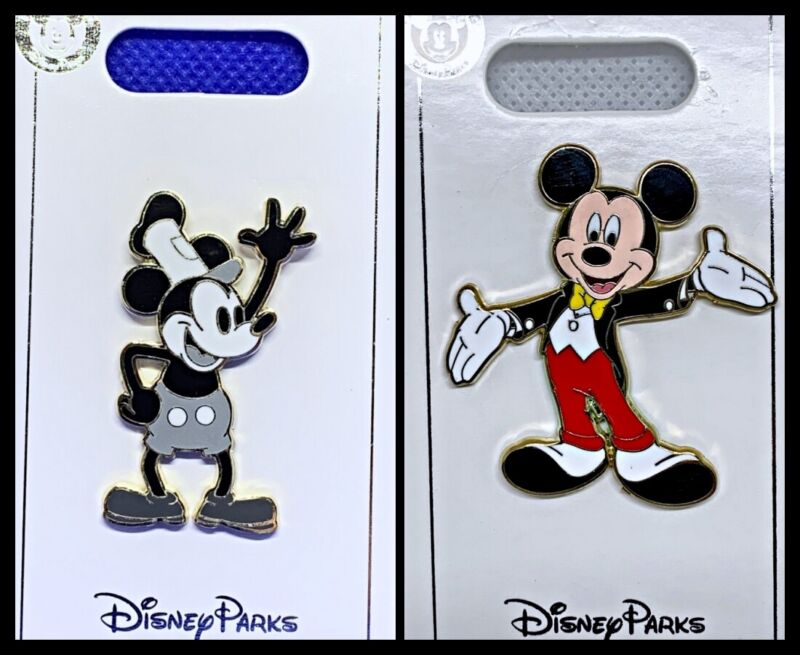 Disney Parks 2 Pin lot Mickey Mouse Steamboat + Tux - New