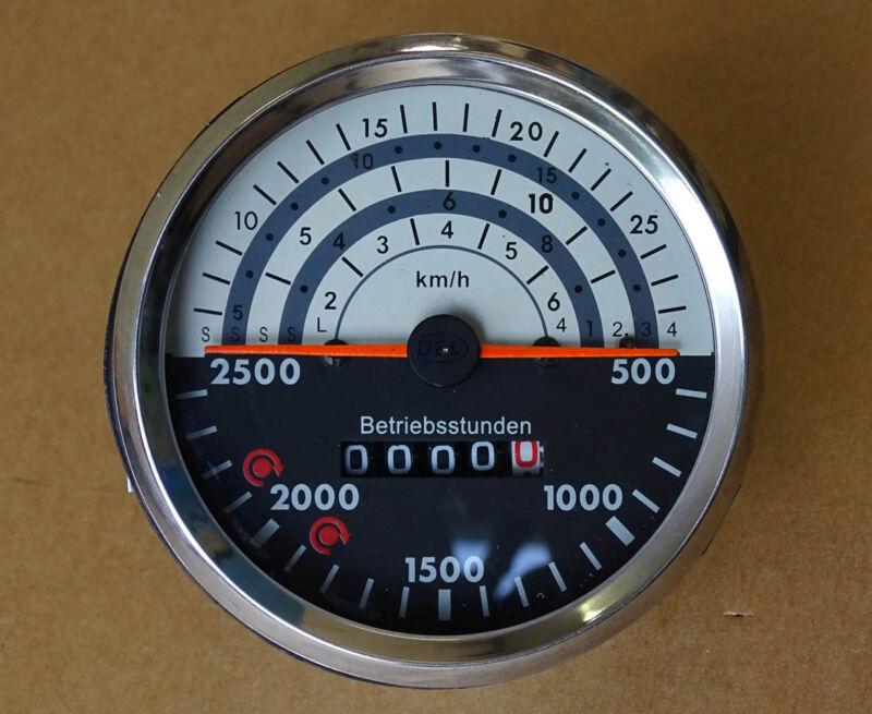 Traktometer ø 100 mm für Deutz 06 - 07 Serie Traktor rechtsdrehend Tacho 100/06 Foto 1