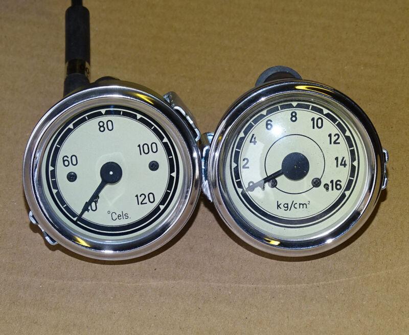 Temperaturanzeige + Öldruckanzeige für Traktor Schlepper Fernthermometer t11/d9 Foto 1