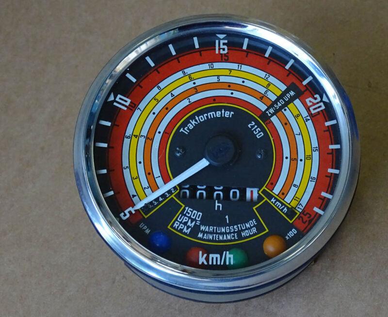Traktometer ø 115 mm für Deutz 05 - 06 Serie Traktor rechtsdrehend Tacho KD5 Foto 1