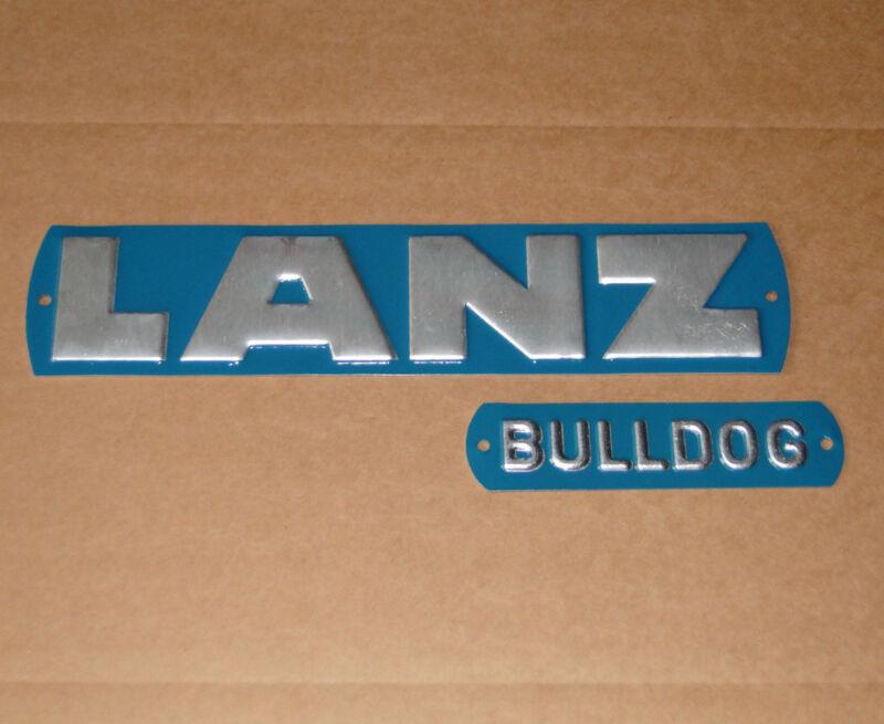 Haubenschild Emblem Lanz + Bulldog für D 1616 2016 2416 2816 Traktor Schlepper Foto 1