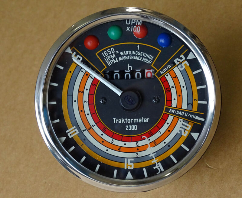 Traktometer ø 115 mm für Deutz D25 D30 Traktor Linksdrehend Tacho KD1 Foto 1