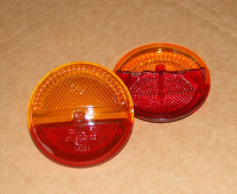 2 St  Lichtscheibe / Streuscheibe passend zu runde Rückluechte Blinkleuchte  Foto 1