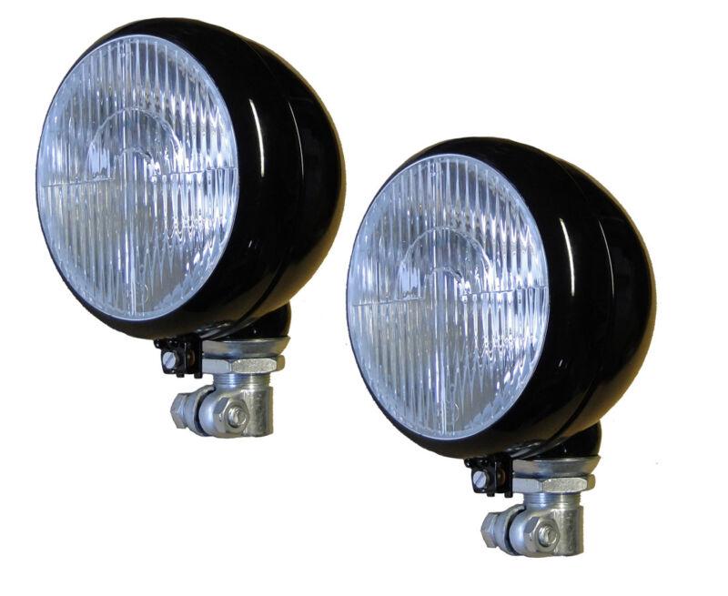 2St Scheinwerfer auf Ø24mm Rohr, flache Lichtscheibe aus Glass für Traktor V/ZW Foto 1