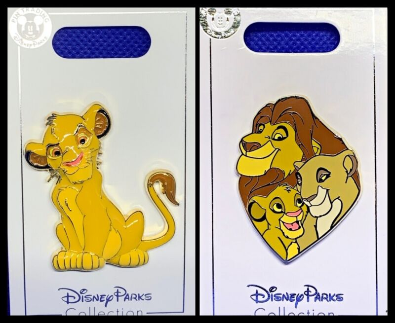 Disney Parks 2 Pin lot LION KING Simba 3D enameled beautiful + family Nala