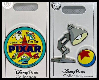 Disney Parks 3 Pin Lot The World of PIXAR + Luxo Lamp & Ball - NEW