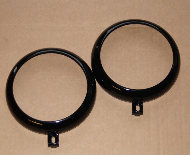 2x Frontring schwarz passend für Hella Scheinwerfer mit 105 mm Lichtaustritt  Foto 1