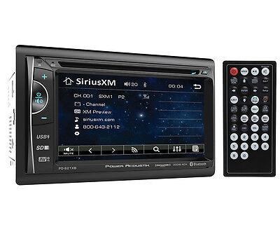 "Power Acoustik PD-621XB Double DIN CD/DVD Player 6.2"" LCD Bluetooth Sirius XM"