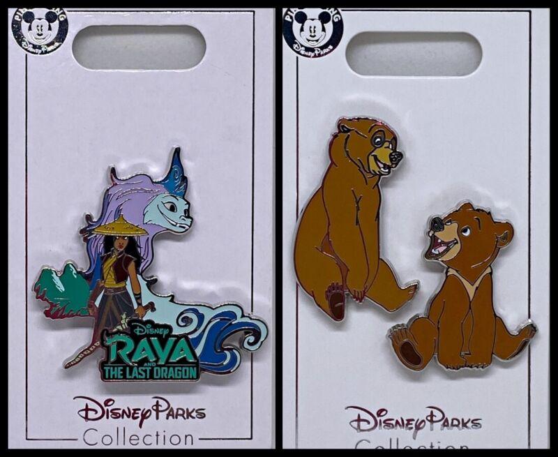 Disney Parks 3 Pin Lot RAYA Last Dragon + Brother Bear set - NEW
