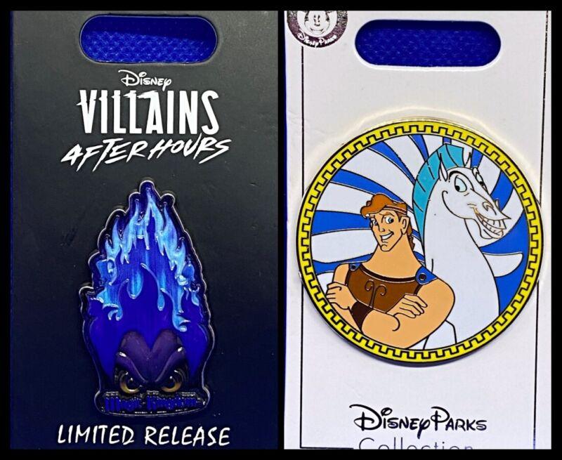 Disney Parks 2 Pin lot Hades Villains After Hours Ltd Release + Hercules Pegasus