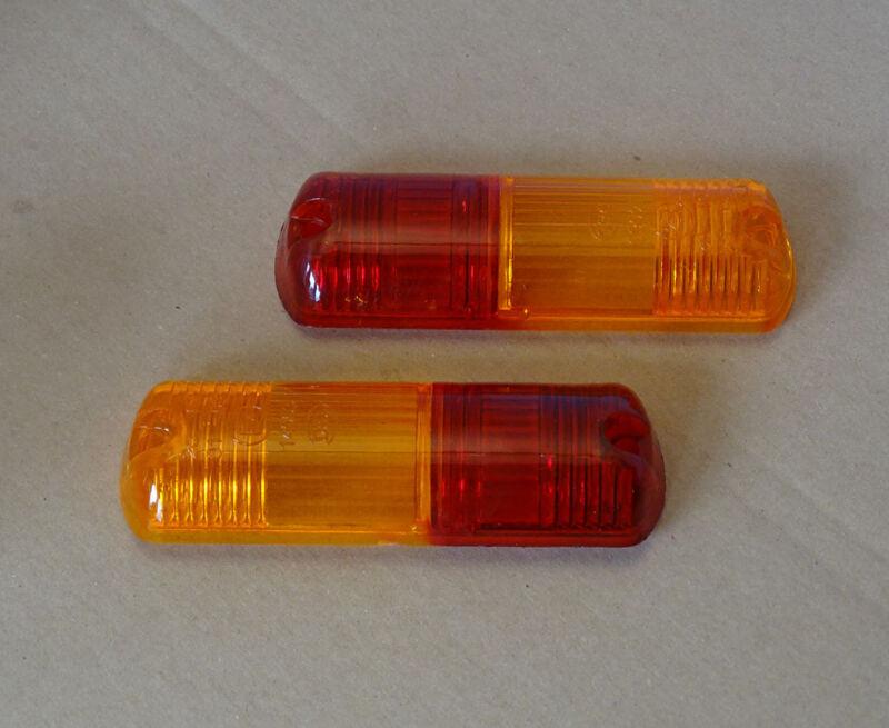 2 Gläser Lichtscheibe passend zu längliche Blinkleuchte Rückleuchte Blinker Foto 1