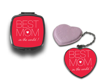 Best Mom In The World Quote Compact Makeup Handbag (Best Handbags In The World)