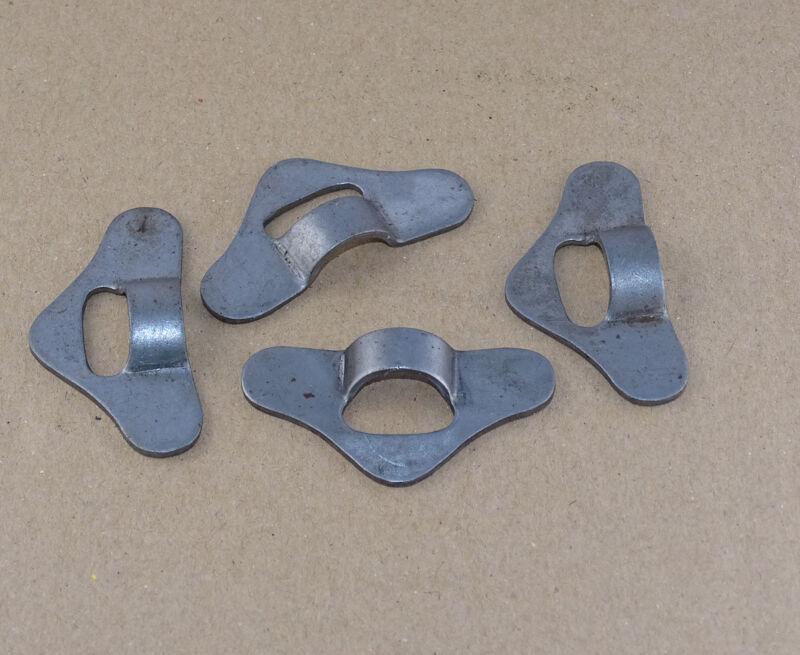 4x Anhaker für Haubenhalter Haubenzug aus Metall bei Traktor Schlepper o. LKW Foto 1
