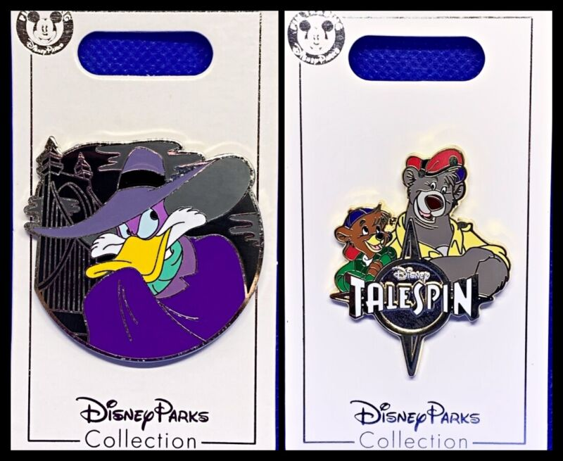 Disney Parks 2 Pin lot Darkwing Duck Tales + Talespin - New