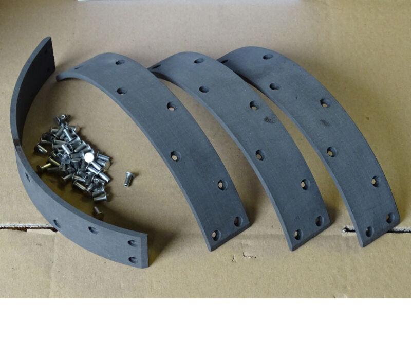 4x Bremsbelag 250x40 Fußbremsbelag für Eicher EKL11 ED310 EM500 EM600 604 Mammut Foto 1