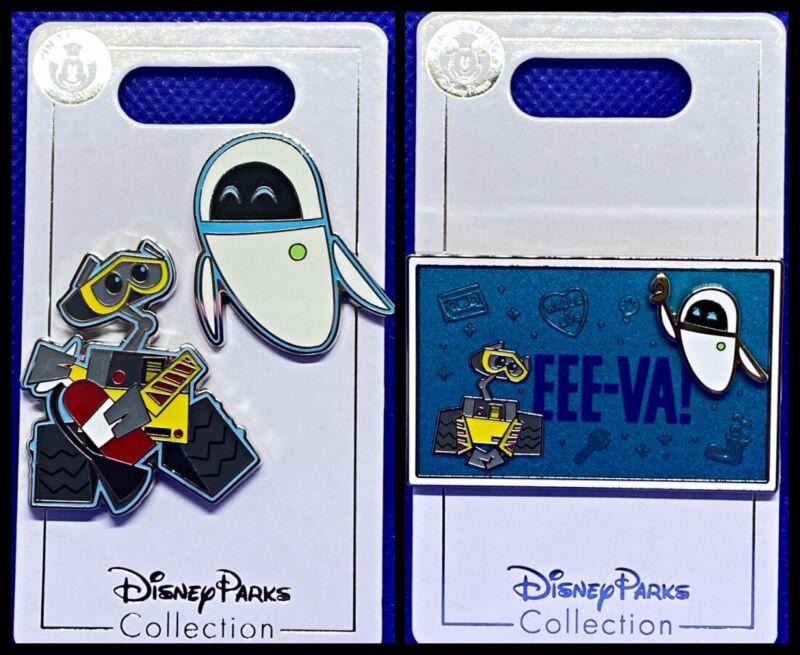 Disney Parks 3 Pin lot Wall-E & Eve + Eee-Va! - NEW