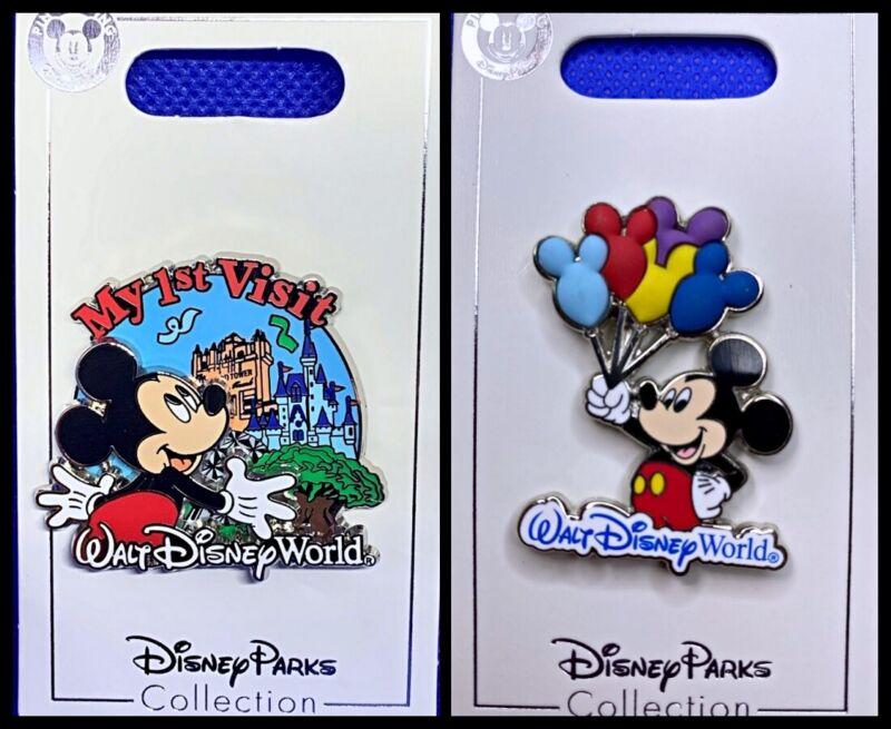 Disney Parks 2 Pin lot My First Visit to Walt Disney World + Mickey w/ balloons