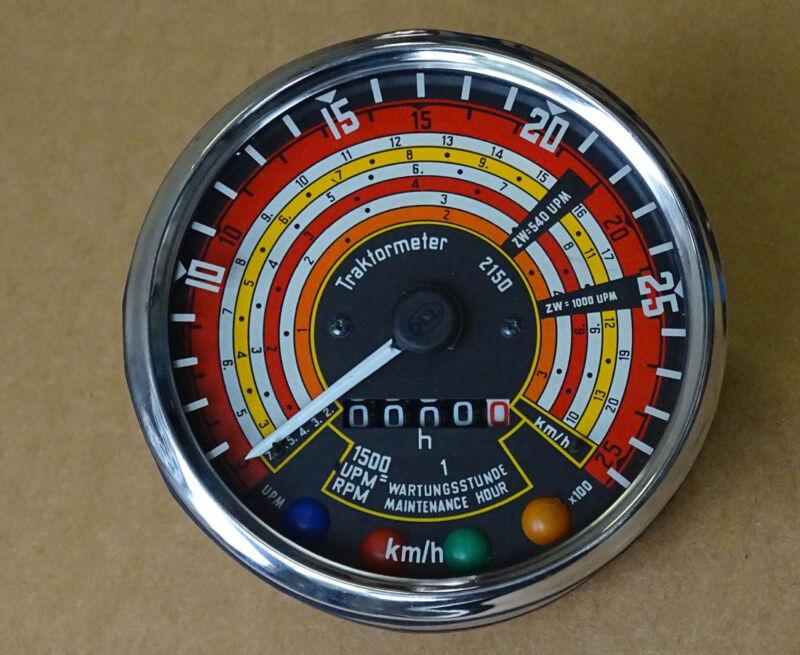 Traktometer ø 115 mm für Deutz 05 - 06 Serie Traktor rechtsdrehend Tacho KD4 Foto 1