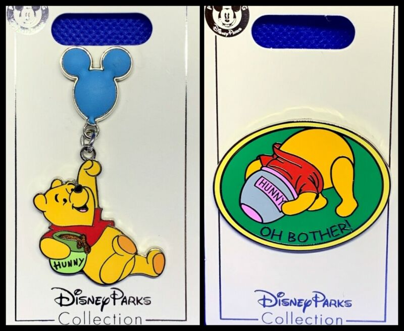 Disney Parks 2 Pin lot Winnie the Pooh with balloon + Hunny Oh Bother! NEW