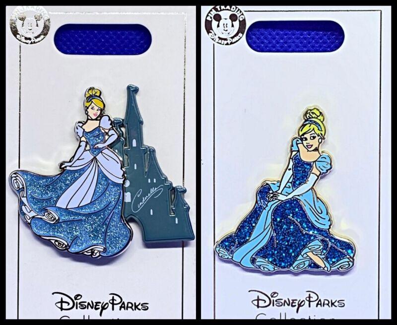Disney Parks 2 Pin lot Cinderella castle + Princess sitting - NEW !!!