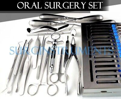 18 Pcs Premium Basic Oral Dental Surgery Surgical Instruments Set Kit