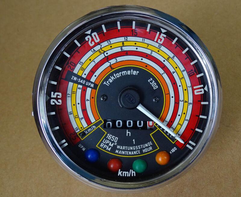 Traktometer ø 115 mm für Deutz 2505 3005 2506 3006 Tacho linksdrehend KD2 Foto 1