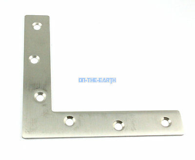 4 Pieces 120*120mm Stainless Steel L Shape Flat Corner Brace Bracket