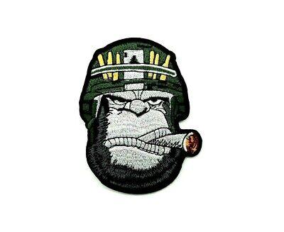 Parche gorila cigar Soldado patch casco guerra animal bordado calor mono gorilla