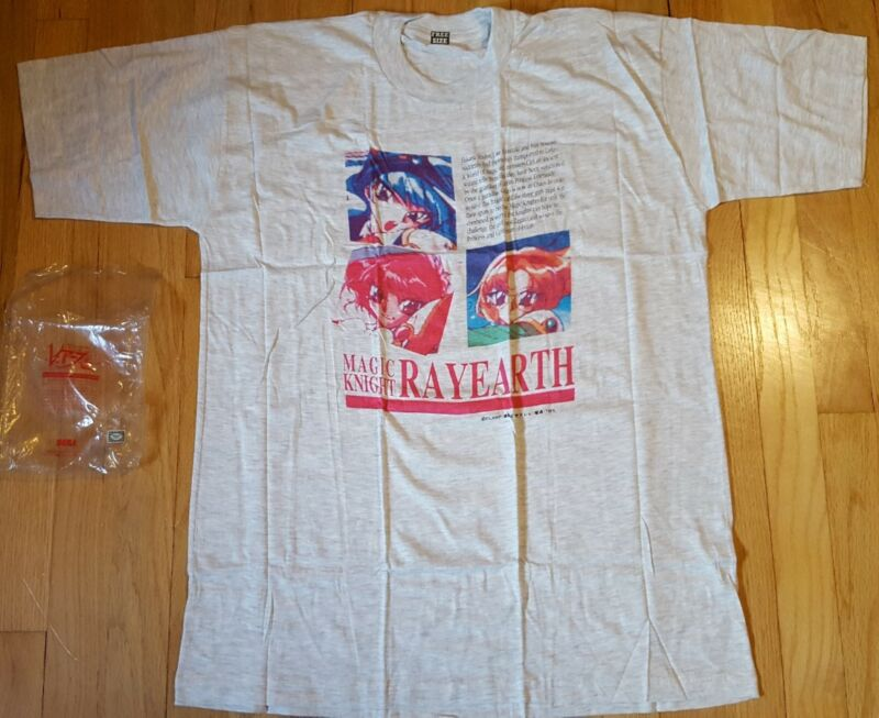 Vintage 1995 MAGIC KNIGHT RAYEARTH shirt L new NOS 90s Sailor Moon anime Japan